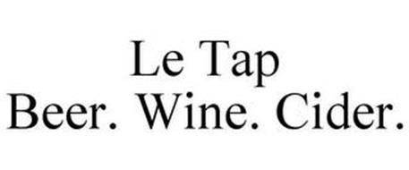 LE TAP BEER. WINE. CIDER.