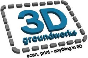 3D GROUNDWORKS SCAN, PRINT - ANYTHING IN 3D