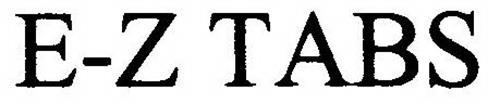 E-Z TABS