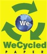 WE WECYCLED PAPER