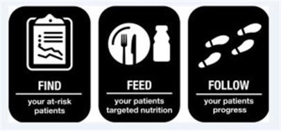 FIND YOUR AT-RISK PATIENTS FEED YOUR PATIENTS TARGETED NUTRITION FOLLOW YOUR PATIENTS PROGRESS