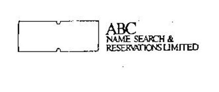 ABC NAME SEARCH & RESERVATIONS LIMITED