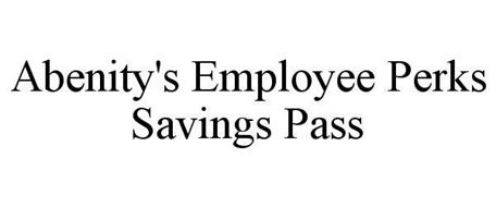 ABENITY'S EMPLOYEE PERKS SAVINGS PASS