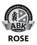 AKTIENBRAUEREI KAUFBEUREN ABK SEIT 1308 SINCE ROSE