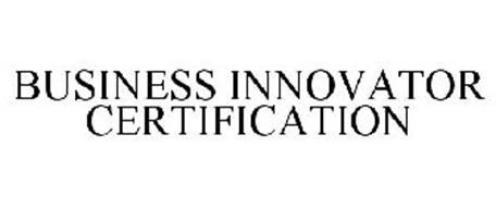 BUSINESS INNOVATOR CERTIFICATION