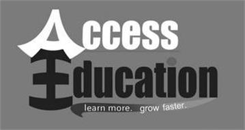 ACCESS EDUCATION LEARN MORE. GROW FASTER.