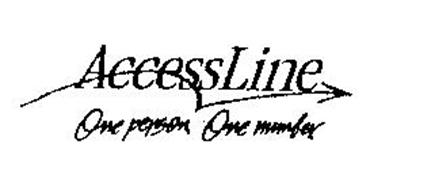 ACCESSLINE ONE PERSON, ONE NUMBER.