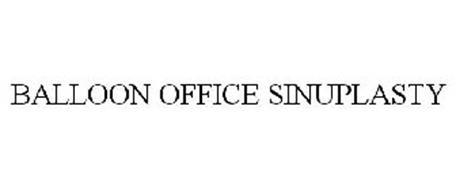 BALLOON OFFICE SINUPLASTY