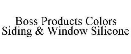 BOSS PRODUCTS COLORS SIDING & WINDOW SEALANT