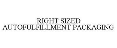 RIGHT SIZED AUTOFULFILLMENT PACKAGING