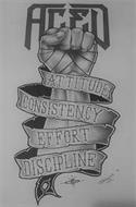 ACED ATTITUDE CONSISTENCY EFFORT DISCIPLINE PERALTA 16 INK