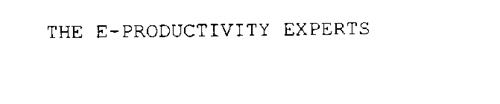 THE E-PRODUCTIVITY EXPERTS