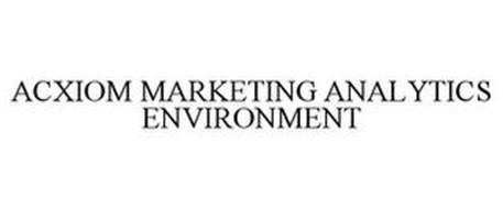 ACXIOM MARKETING ANALYTICS ENVIRONMENT