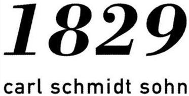 1829 CARL SCHMIDT SOHN