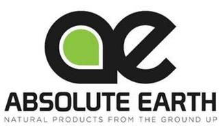 AE ABSOLUTE EARTH NATURAL PRODUCTS FROM THE GROUND UP
