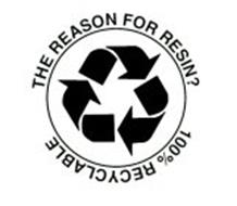 THE REASON FOR RESIN? 100% RECYCLABLE