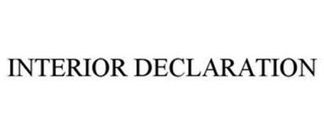 INTERIOR DECLARATION