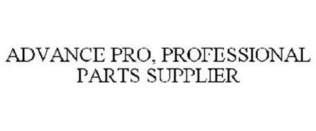 ADVANCE PRO, PROFESSIONAL PARTS SUPPLIER