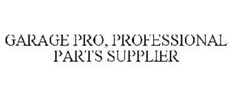 GARAGE PRO, PROFESSIONAL PARTS SUPPLIER
