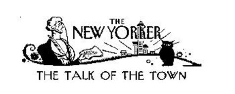 THE NEW YORKER THE TALK OF THE TOWN