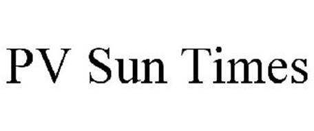 PV SUN TIMES