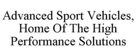 ADVANCED SPORT VEHICLES, HOME OF THE HIGH PERFORMANCE SOLUTIONS