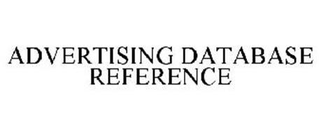 ADVERTISING DATABASE REFERENCE