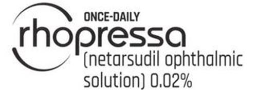 ONCE-DAILY RHOPRESSA (NETARSUDIL OPHTHALMIC SOLUTION) 0.02%