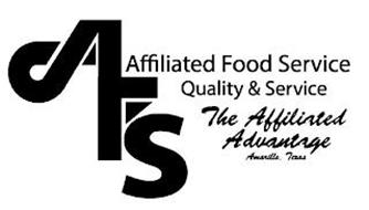 AFS AFFILIATED FOOD SERVICE QUALITY & SERVICE THE AFFILIATED ADVANTAGE AMARILLO, TEXAS