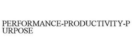 PERFORMANCE-PRODUCTIVITY-PURPOSE