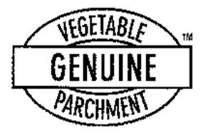 VEGETABLE GENUINE PARCHMENT