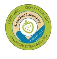 FOOD LABS ISO/IEC 17025:2017 AIHAACCREDITEDLABS.ORG ACCREDITED LABORATORY AIHA LAP, LLC