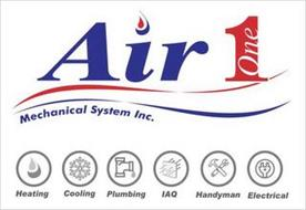 AIR 1 ONE MECHANICAL SYSTEM INC. HEATING COOLING PLUMBING IAQ HANDYMAN ELECTRICAL
