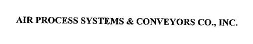 AIR PROCESS SYSTEMS & CONVEYORS CO., INC.