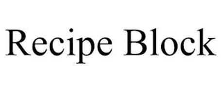 RECIPE BLOCK