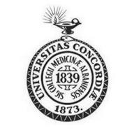 UNIVERSITAS CONCORDIAE 1873. SIG COLLEGII MEDICINAE ALBANIENSIS 1839