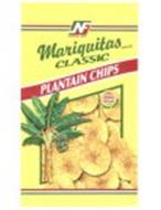 NF NATIONAL FOOD MARIQUITAS BRAND CLASSIC PLANTAIN CHIPS ZERO G TRANS FAT ALL NATURAL