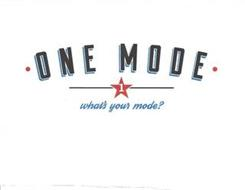 · ONE MODE · 1 WHAT'S YOUR MODE?