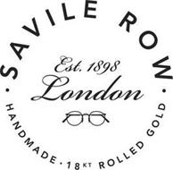 SAVILE ROW HANDMADE 18KT ROLLED GOLD EST. 1898 LONDON