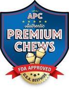 APC AUTHENTIC PREMIUM CHEWS U.S.A. BEEFHIDE