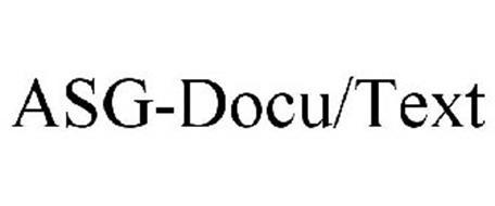 ASG-DOCU/TEXT