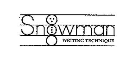 SNOWMAN WRITING TECHNIQUE