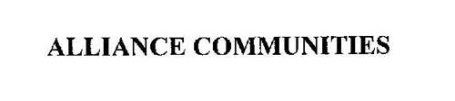 ALLIANCE COMMUNITIES