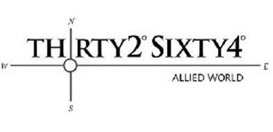 THRTY2° SIXTY4° ALLIED WORLD W N E S Trademark of Allied World Assurance Company (U.S.) Inc ...