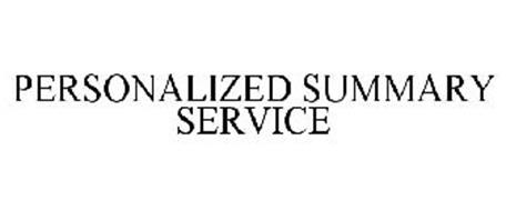 PERSONALIZED SUMMARY SERVICE