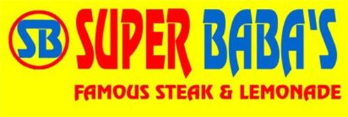 SB SUPER BABA'S FAMOUS STEAK & LEMONADE