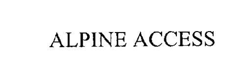 ALPINE ACCESS