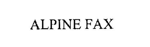 ALPINE FAX