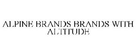 ALPINE BRANDS BRANDS WITH ALTITUDE