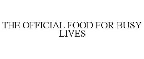 THE OFFICIAL FOOD FOR BUSY LIVES